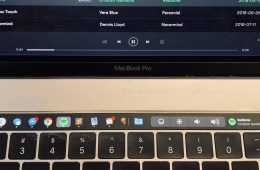 Pock on my MacBook Touch Bar